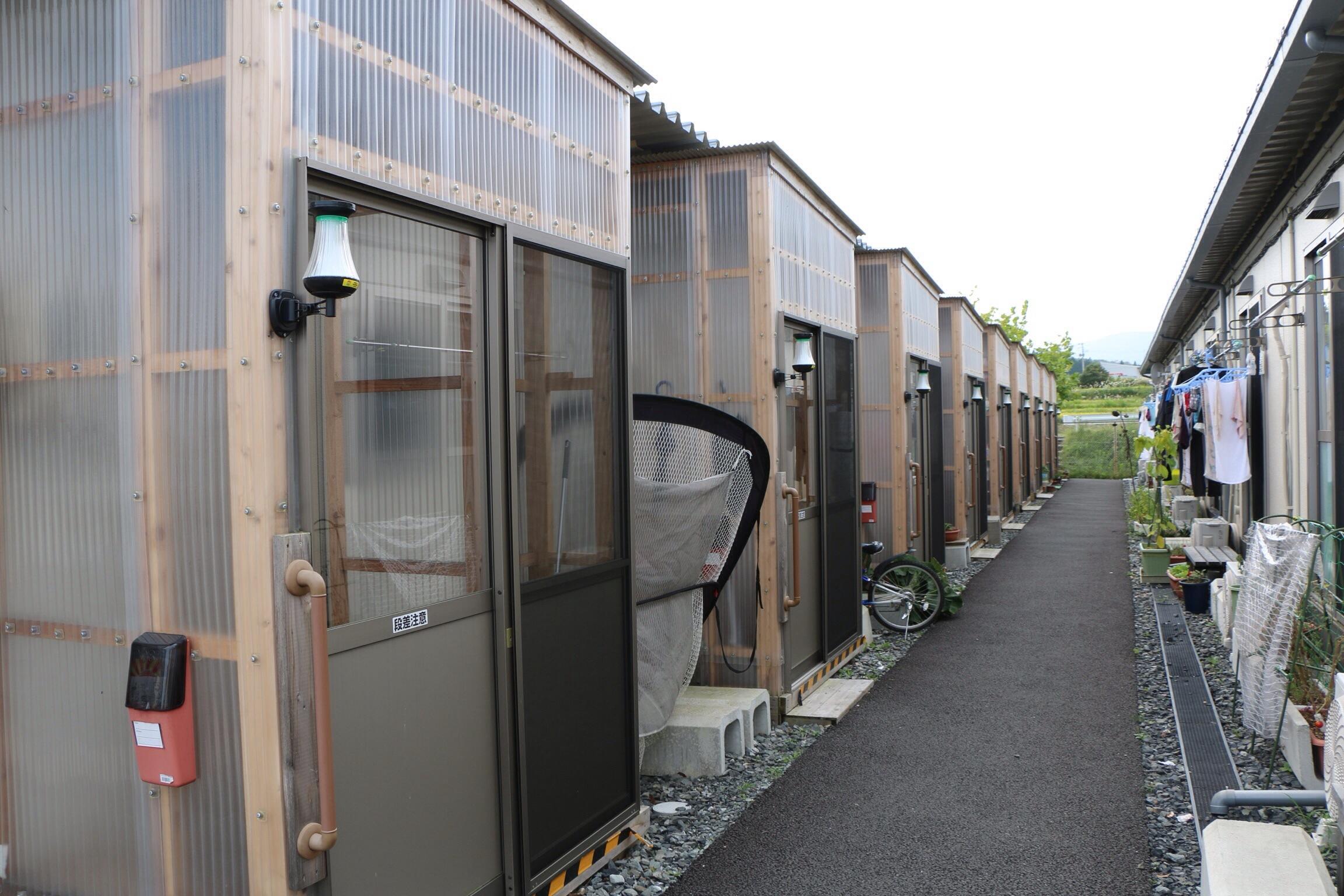 Temporary Living Shelters : Temporary housing units thu bringing hope love miyagi